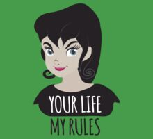 YOUR LIFE MY RULES awesome punk chick with black hair One Piece - Short Sleeve