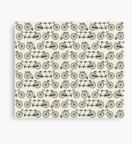 Retro bicycles Canvas Print