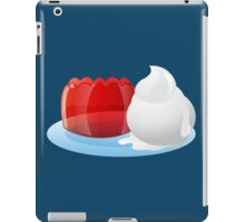 Jelly and icecream on a plate sweets! iPad Case/Skin