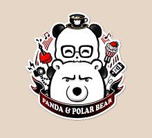 Panda And Polar Bear Badge Unisex T-Shirt