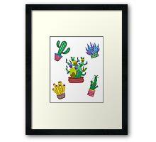 Cactus folie Framed Print