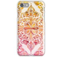Sunset Art Nouveau Watercolor Doodle iPhone Case/Skin