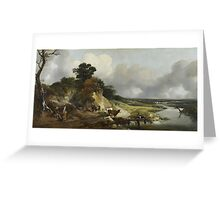 Thomas Gainsborough, River Landscape with a View of a Distant Village Greeting Card