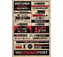 Fight Club Photographic Print