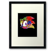 Sonic logo (painting) Framed Print