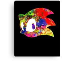 Sonic logo (painting) Canvas Print