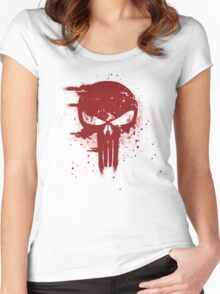 The Punisher Blood Women's Fitted Scoop T-Shirt