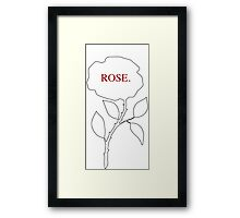 Self-Titled Rose Framed Print