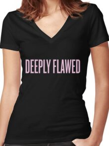 Deeply Flawed Women's Fitted V-Neck T-Shirt