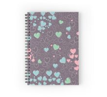 Trendy pattern with hearts Spiral Notebook