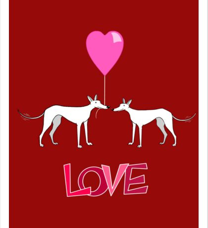 A Hound's Love Sticker