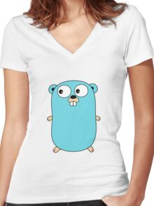 Go Language logo Women's Fitted V-Neck T-Shirt