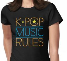 K-POP MUSIC RULES Womens Fitted T-Shirt