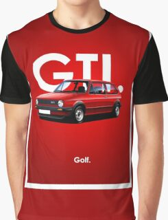 Golf GTI Classic Car Advert Graphic T-Shirt