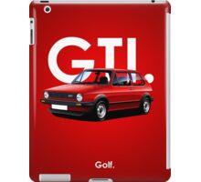 Golf GTI Classic Car Advert iPad Case/Skin