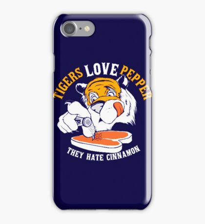 Tigers Love Peppers iPhone Case/Skin