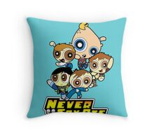 Powerpuff Goonies Never Say Die Throw Pillow