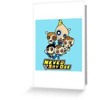 Powerpuff Goonies Never Say Die Greeting Card