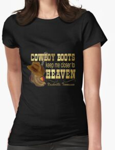Nashville Cowboy Boots Womens Fitted T-Shirt
