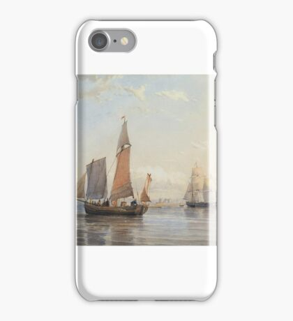 Thomas Sewell Robins - A French Egg Boat entering Southhampton Water  iPhone Case/Skin