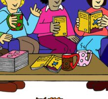 Invitation to join our book group. Sticker