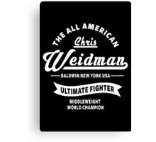 Chris Weidman Canvas Print
