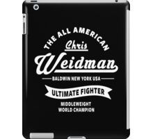 Chris Weidman iPad Case/Skin