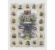 Our Heroes and Our Flags Photographic Print
