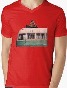 """""""Happiness is only real when shared"""" Mens V-Neck T-Shirt"""