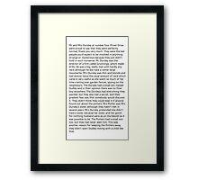 The Boy Who Lived Framed Print