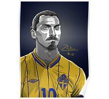 Zlatan Ibrahimovic - Sweden Poster