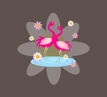 Spring Flamingos Womens Fitted T-Shirt