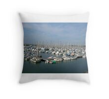 Brittany Harbour, France Throw Pillow