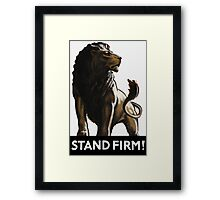 Stand Firm Lion Framed Print