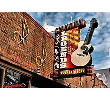 """""""Legends Corner's Famous Neon Sign""""... prints and products Photographic Print"""
