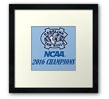 North Carolina Tar Heels NCAA 2016 Champions Framed Print