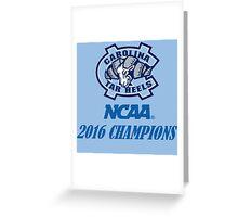 North Carolina Tar Heels NCAA 2016 Champions Greeting Card
