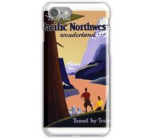 Travel Poster - Visit the Pacific Northwest Wonderland Travel by Train, iPhone Case/Skin