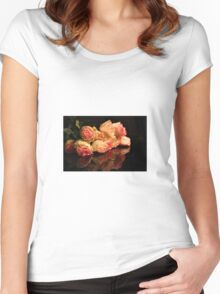Roses reflection Women's Fitted Scoop T-Shirt
