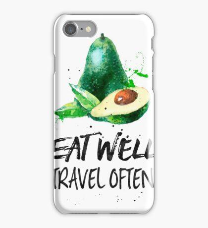 Avocado - Eat well, travel often iPhone Case/Skin