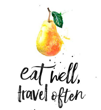 Pear - Eat well, travel often Sticker