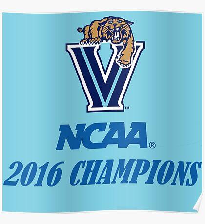 Villanova Wildcats 2016 NCAA Champions Poster