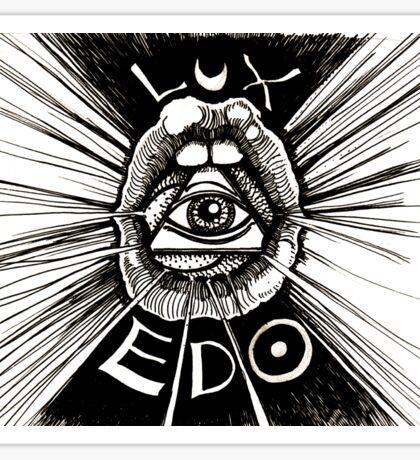 LUX EDO: Sentient Sacrement Sticker