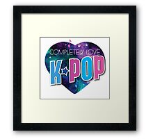 Completely love kpop (heart universe) Framed Print