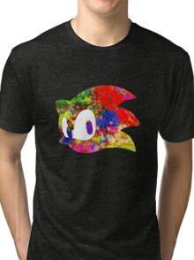 Sonic logo (painting) Tri-blend T-Shirt