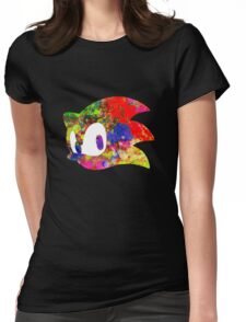 Sonic logo (painting) Womens Fitted T-Shirt
