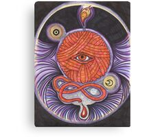 KNITCROMANCY: Unraveling the Cosmic Yarn Canvas Print