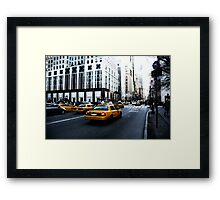 New York 5th Avenue Framed Print