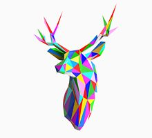 Coloured Faceted Stag Trophy Head Unisex T-Shirt