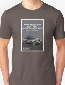 Talbot Sunbeam Lotus Classic Car advert Unisex T-Shirt